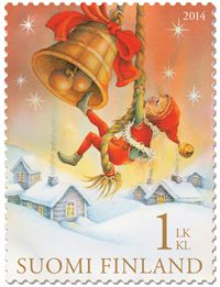 Joulupostimerkki 2014 Nordic Thoughts: They are here: the Finnish Christmas stamps 2014 Noel Christmas, Vintage Christmas Cards, Retro Christmas, Christmas Images, Vintage Cards, Christmas Morning, Xmas, Commemorative Stamps, Postage Stamp Art