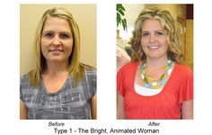 Another great DYT Bright & Animated makeover to bring out who she is on the inside.