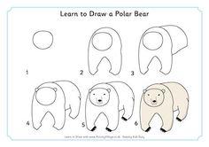 How To Draw A Polar Bear Instructions Sheet Sb9210 Sparklebox