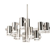 Modern Polished Nickel LED Chandelier at Destination Lighting Country Contemporary Decor, Contemporary Living Room Furniture, Contemporary Interior, Contemporary Style, Lighting Showroom, Shop Lighting, Modern Lighting, Contemporary Light Fixtures, Mid Century Lighting