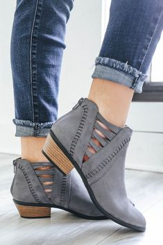 Weekend-30 Faux Suede Ankle Booties - UOIOnline.com