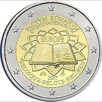 moneda Bélgica 2 euros 2007 Tratado de Roma, Tienda Numismatica y Filatelia Lopez, compra venta de monedas oro y plata, sellos españa, accesorios Leuchtturm