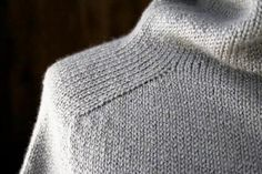 Top-Down Turtleneck Cardigan pattern by Purl Soho - Cardigan Stricken Lace Knitting, Knitting Stitches, Knitting Patterns Free, Knit Patterns, Sweater Patterns, Cardigan Pattern, Crochet Cardigan, Knit Crochet, Sweater Cardigan