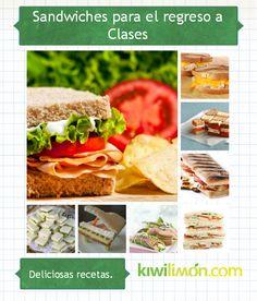 Dale un giro al Lunch de tus niños con alguna de estas 22 recetas para preparar deliciosos Sandwiches.