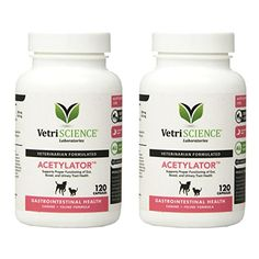 VetriScience Acetylator Dog  Cat 120 Capsules 2 Pack ** Be sure to check out this awesome product. (This is an affiliate link)