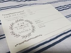 クリーム色のポストカード型の紙を発見✨ 良い感じに仕上がった #花嫁diy  #プレ花嫁  #ゲストカード