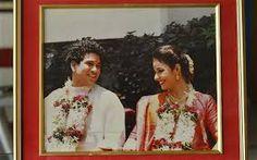 sachin tendulkar with wife anjali(during their marriage)