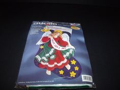 "Bucilla Celestial Angel Felt Applique 18"" Stocking 89356 Kit Christmas NEW 1998 #Bucilla"