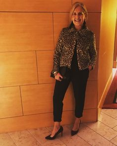 """554 Likes, 88 Comments - Jeanne Curry Mooney (@styledbyjeanne) on Instagram: """"Mixing high and low...my favorite way to style $5 leopard jacket✔️ $18 wine velvet heels✔️…"""""""