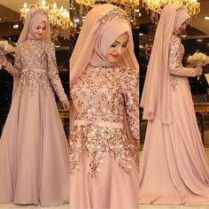 Stylish Party Wear Long Dresses With Hijaab Look – Maxi Dresses With Hijaab For Girls 2018 Muslimah Wedding Dress, Muslim Wedding Dresses, Maxi Dress Wedding, Pink Wedding Dresses, Hijabi Wedding, Hijab Dress Party, Hijab Style Dress, Hijabi Gowns, Pakistani Dresses