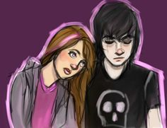 Is this Nico and... Soneone? Oh, wait, I think it could be Anubis and Sadie? I don't know...