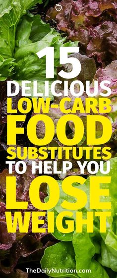Nobody likes giving up the food you like but if you can find a great substitute then all is good. Here are some low carb food substitutes to help you lose weight.