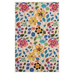 Add a splash of spring style to your living room, porch, or patio with this hand-hooked indoor/outdoor rug.   Product: RugConstruction Material: PolypropyleneColor: Ivory pinkFeatures:  Hand-hookedSuitable for indoor or outdoor use Note: Please be aware that actual colors may vary from those shown on your screen. Accent rugs may also not show the entire pattern that the corresponding area rugs have.Cleaning and Care: Professional cleaning recommended