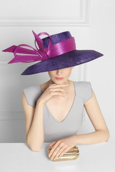 0f3f3bfac3a Philip Treacy - Wide-brim sinamay and buntal hat