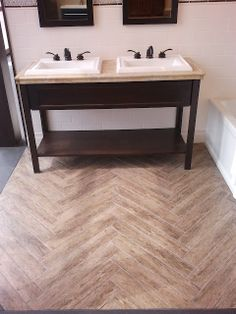 """herringbone """"wood"""" tile. diy."""