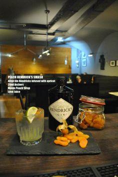 Peach Hendricks Smash #Cocktail