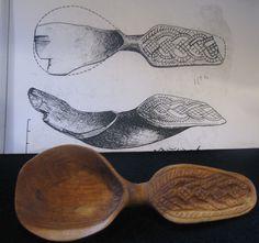 Replica spoon, 9th century Novgorod