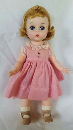 Madame Alexander WENDY KINS 1956 BKW in BOX with tags and LITTLE GENIUS DRESS #DollswithClothingAccessories