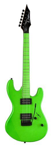 """A sleek design with sensuous curves and classic Dean playability make it a rock natural! This bolt-on neck instrument delivers a fast attack and rugged durability as well as thick tone from 2 hot humbuckers. Has a maple neck, 25-1/2"""" scale, solid hardwood body, Grover tuners, chrome hardware, and a vintage tremolo."""
