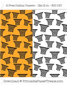 Free Printable Basketball Basket Digital Papers