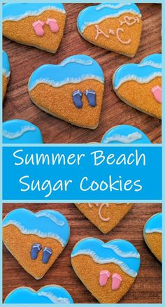 Let's forget about this bummer #spring and move on to #summer! These fun #cookies are great for #beach picnics and another other get together! Learn how to make them in just a few hours!  #butfirstcookies #sugarcookies #summercookies #beachcookies