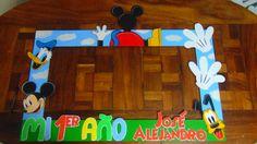 """Marco para cumpleaños con la temática """"La Casa de Mickey Mouse"""""""