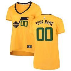 51025189e21 Utah Jazz Fanatics Branded Women s Fast Break Replica Custom Jersey Yellow  – Statement Edition Basketball Equipment