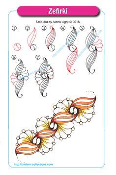 60 New Ideas Art Design Doodles Zentangle Patterns Doodles Zentangles, Tangle Doodle, Zentangle Drawings, Mandala Drawing, Doodle Drawings, Easy Drawings, Doodle Art, Zen Doodle Patterns, Zentangle Patterns