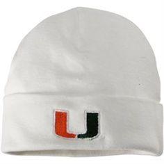 Green New Born Two Feet Ahead NCAA Miami Hurricanes Infant Knit Cap