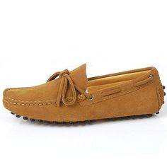 ff2ed4f80345a8 Santimon - Men s Casual Comfort Genuine Nubuck Leather Outdoor Low Boat  Shoes Moccasin Loafers Review Boat