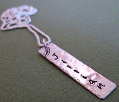 Silberkette mit dem personalisierten Anhänger von NadinArtDesign auf DaWanda.com