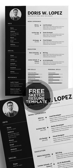 Creative Free CV\/Resume Template Graphic Design Pinterest Cv - creative free resume templates