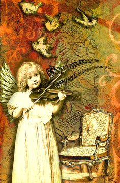 Angel with violin by Romany Soup