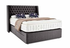 King size divan - Hypnos Farlington - Beds & Bedroom Furniture - Hypnos Opulent Cashmere - Bedroom Storage, Beds, Mattresses & Bed Frames