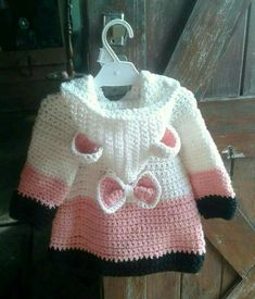 Discover thousands of images about Cathy Crews This Pin was discovered by Vir Crochet Patterns For Kids Wall Best 12 Easy Crochet Coat Video Tutorial and Free Pattern Baby Girl Crochet, Crochet Baby Clothes, Crochet For Kids, Easy Crochet, Baby Knitting Patterns, Baby Patterns, Crochet Coat, Crochet Cardigan Pattern, Crochet Baby Dresses