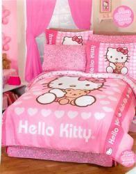 Pink Hello Kitty Comforter Set