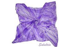 Seidentuch Seidenschal in 100% Seide Seidenmalerei in lila. Tuch / Schal elegant http://de.dawanda.com/product/58237483-seidentuch-februarfun-lila von Salabrin auf DaWanda.com
