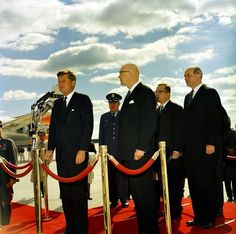 President John F. Kennedy delivers remarks at arrival ceremonies for Urho Kekkonen, President of Finland. Jfk, Fort Smith, John Fitzgerald, Fort Bragg, John F Kennedy, Chief Of Staff, Chapel Hill, National Guard, Throughout The World