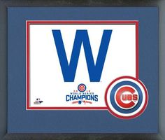 """Chicago Cubs """"W"""" 2016 World Series Champions - 11x14 Matted/Framed Photo"""