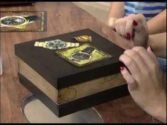 Caixa de Relógio Craquelê - Passo a Passo 2/2 - YouTube