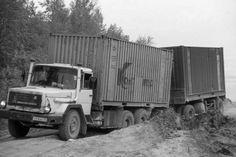 magirus cccp BAM Baikal-Amur-Magistrale ) Magirus Deutz mit Container Transport.