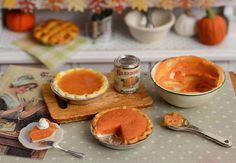 Miniature Making Pumpkin Pie Set by CuteinMiniature on Etsy, $36.00