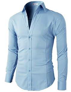 H2h mens casual slim fit button down short sleeve shirts for Wrinkle free dress shirts amazon