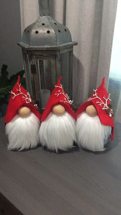 Ever since a visit to Denmark I really liked the Scandinavian Christmas gnomes (or tomte, nisse. Christmas Gnome, Christmas Projects, Christmas Holidays, Christmas Decorations, Christmas Ornaments, Scandinavian Gnomes, Scandinavian Christmas, Gnome Tutorial, Gnome Ornaments