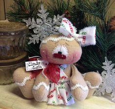 "Primitive HC Holiday Christmas Doll Gingerbread Snowman Snowflake 6"" Super Cute! #IsntThatCute #Christmas"