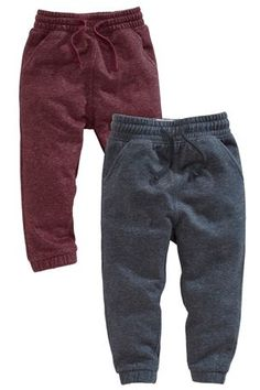 Buy Textured Navy And Plum Joggers Two Pack (3mths-6yrs) from the Next UK online shop