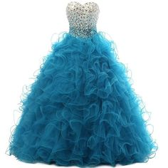 LanierWedding Women's Ball Gown Quinceanera Dresses Beaded Prom Dresses 2016 Turquoise Size 20 Plus. Hot Sale, New fashion design, perfect for prom, party, senior ball, graduation, quinceanera and other special occasions. Ball Gown Princess Cinderella style, Sweetheart, Lace up, Shinny beadings on bodice, Lovely ruffles on skirt, Built in bra. PC has chromatic aberration, especially between CRT screen and LCD screen,so there may has a little colour shading. Please use the Size Chart Image…
