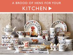 A BROOD OF HENS FOR YOUR KITCHEN Emma Bridgewater mugs, bowls, plates