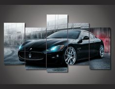 56 Ideas luxury cars maserati automobile for 2019 New Sports Cars, Sport Cars, Maserati Sports Car, Car Racer, Thing 1, Acura Nsx, Canvas Wall Art, Painting Canvas, Pintura