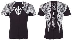 Xtreme Couture AFFLICTION Men T-Shirt AEROSMITH Wings Tattoo Biker UFC S-4XL $40 #Affliction #GraphicTee